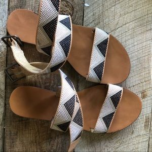 Target black and white mossimo strappy sandals